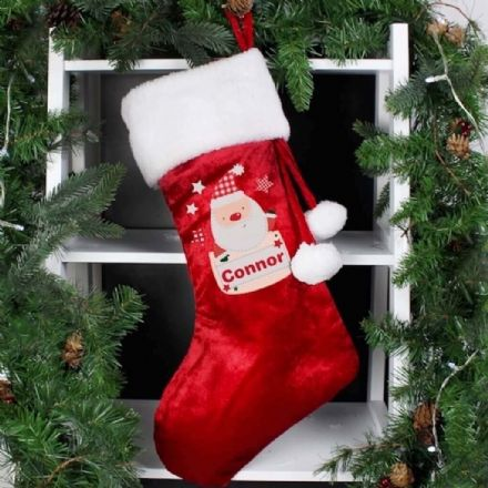 Personalised Pocket Santa Luxury Stocking